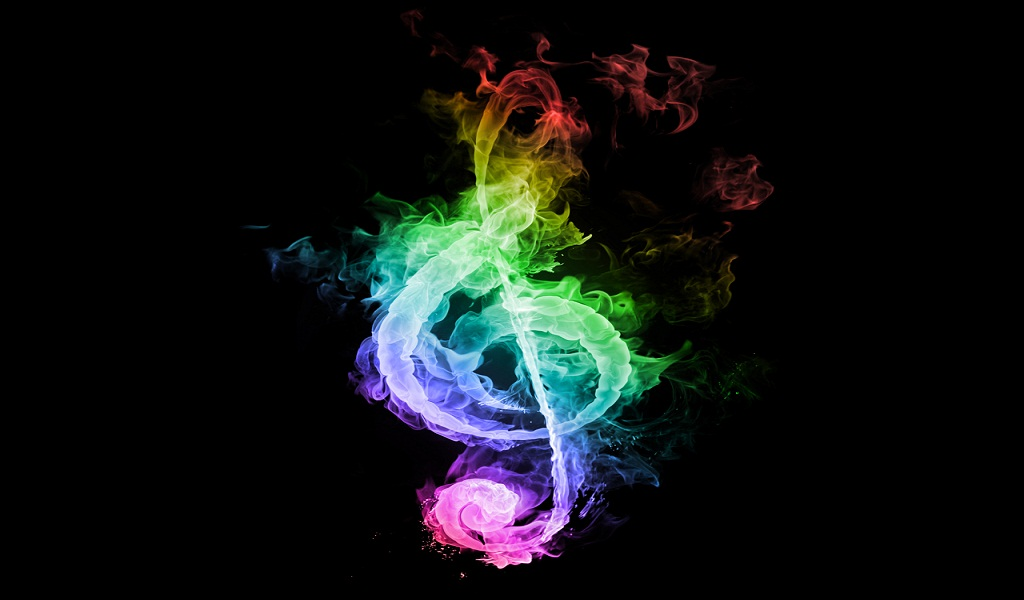 Flames music rainbows notes treble clef rainbow note fire hd